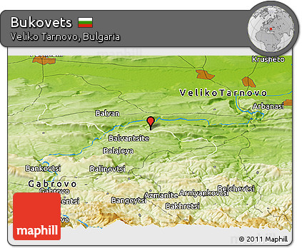 Physical Panoramic Map of Bukovets