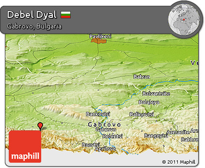 Physical Panoramic Map of Debel Dyal
