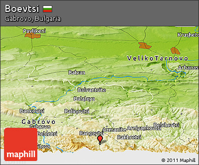 Physical Panoramic Map of Boevtsi