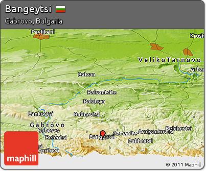 Physical Panoramic Map of Bangeytsi
