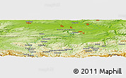 Physical Panoramic Map of Tsokevtsi
