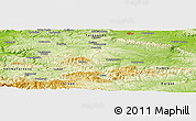 Physical Panoramic Map of Byala Reka