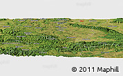 Satellite Panoramic Map of Brezovo