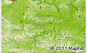 """Physical Map of the area around 43°1'43""""N,27°16'29""""E"""