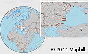 Gray Location Map of Varna