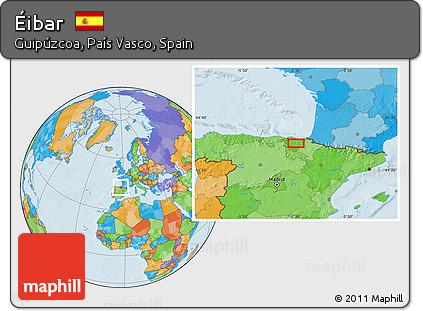 Map Of Spain Eibar.Free Political Location Map Of Eibar
