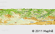 Physical Panoramic Map of Salvatierra