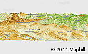 """Physical Panoramic Map of the area around 43°1'43""""N,3°19'30""""W"""