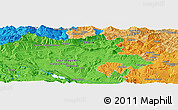 """Political Panoramic Map of the area around 43°1'43""""N,3°19'30""""W"""