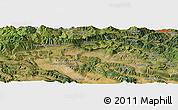 "Satellite Panoramic Map of the area around 43°1'43""N,3°19'30""W"