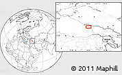 Blank Location Map of Sokhumi