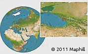 Satellite Location Map of Sokhumi