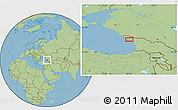 Savanna Style Location Map of Sokhumi