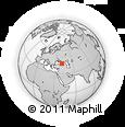 Outline Map of Sokhumi, rectangular outline
