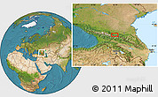 Satellite Location Map of Vladikavkaz