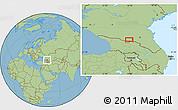 Savanna Style Location Map of Vladikavkaz
