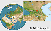 Satellite Location Map of Nazran'