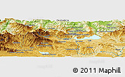 """Physical Panoramic Map of the area around 43°1'43""""N,4°10'30""""W"""