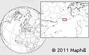 """Blank Location Map of the area around 43°1'43""""N,5°10'30""""E"""