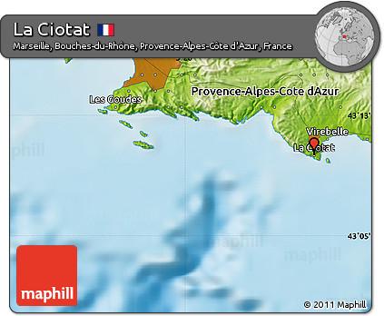 Free Physical Map of La Ciotat