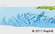 """Physical Panoramic Map of the area around 43°1'43""""N,5°10'30""""E"""