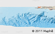 """Shaded Relief Panoramic Map of the area around 43°1'43""""N,5°10'30""""E"""