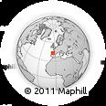 Outline Map of Picos De Europa, rectangular outline