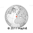 Outline Map of Siero, rectangular outline