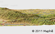 Satellite Panoramic Map of Karakemer