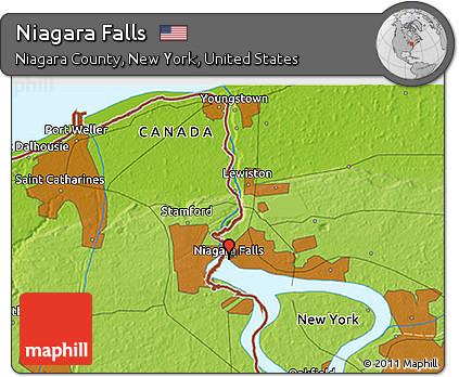 Free Physical 3d Map Of Niagara Falls