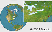 """Satellite Location Map of the area around 43°1'43""""N,78°58'29""""W"""