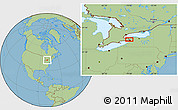 """Savanna Style Location Map of the area around 43°1'43""""N,78°58'29""""W"""