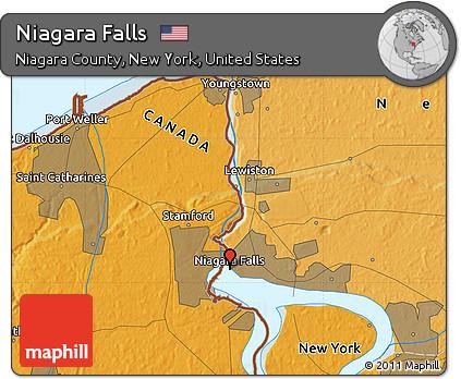 Free Political Map Of Niagara Falls