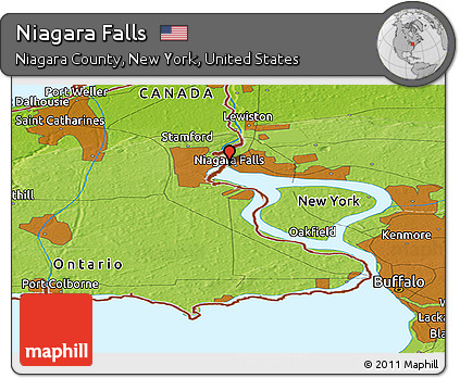 Niagara Falls Us Map fidorme