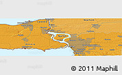 """Political Panoramic Map of the area around 43°1'43""""N,78°58'29""""W"""