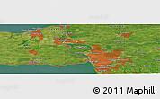 "Satellite Panoramic Map of the area around 43°1'43""N,78°58'29""W"