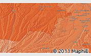 Political 3D Map of Frouzins