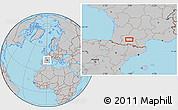 Gray Location Map of Frouzins