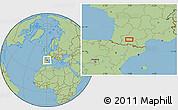 Savanna Style Location Map of Frouzins