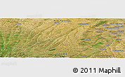 Satellite Panoramic Map of Saint-Thomas