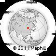 Outline Map of Erenhot, rectangular outline