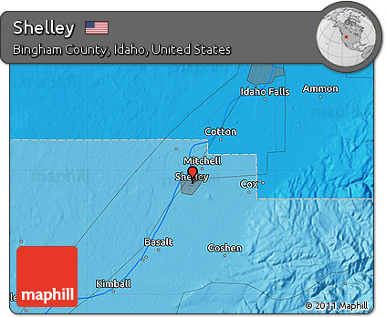 Free Political Map Of Shelley