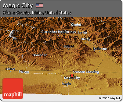 Free Physical Panoramic Map of Magic City on robbers map, maginot line map, princess map, adventure map, google map, disney's map, mtg map, mavs map, mischief map,