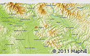 """Physical 3D Map of the area around 43°27'40""""N,11°58'29""""E"""