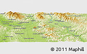 """Physical Panoramic Map of the area around 43°27'40""""N,11°58'29""""E"""