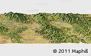 "Satellite Panoramic Map of the area around 43°27'40""N,11°58'29""E"