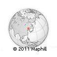 """Outline Map of the Area around 43° 27' 40"""" N, 123° 19' 29"""" E, rectangular outline"""
