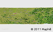 "Satellite Panoramic Map of the area around 43° 27' 40"" N, 125° 52' 30"" E"
