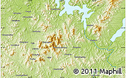 """Physical Map of the area around 43°27'40""""N,126°43'29""""E"""