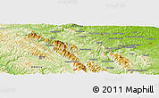 """Physical Panoramic Map of the area around 43°27'40""""N,12°49'29""""E"""